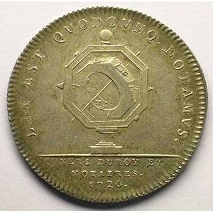 Jeton en argent   Louis XV   1720    TTB+