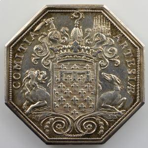 Jeton octogonal en argent   Etats d'Artois   Louis XVI    SUP