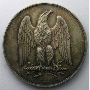 Jeton rond en argent   1843    SUP