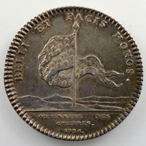 jeton rond en argent  29mm   Louis XV   1726    TTB/TTB+