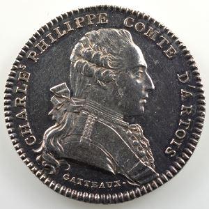 jeton rond en argent  29mm   Maison de Monsgr le Comte d'Artois   SUP nettoyé