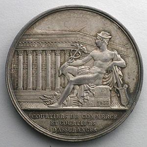 Jeton rond en argent  33mm   Louis-Philippe I   Multirisques    SUP