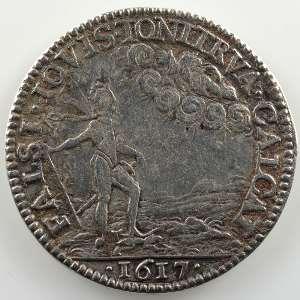 Jeton rond en argent   Louis XIII   1617    TB+