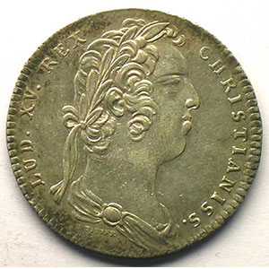 jeton rond en argent   Louis XV   1732    TTB+