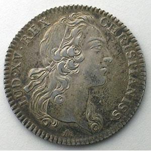 jeton rond en argent   Louis XV   1741    TTB/TTB+
