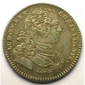 jeton rond en argent   Louis XV   1757    TTB+