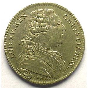 jeton rond en argent   Louis XV   1769    SUP