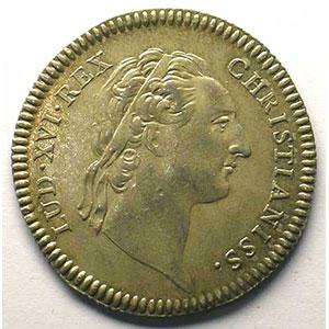 jeton rond en argent   Louis XVI    TTB+