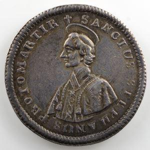 Jeton rond en argent   Siège vacant de 1760    TTB+