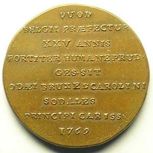 Jeton rond en cuivre   31mm   1769    SUP/FDC