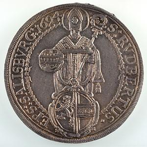KM 254   Thaler   Johann Ernst (1687-1709)   1694    SUP