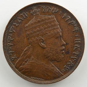 KM 9   1/100 Birr   EE 1889  (1897 AD)    TTB+