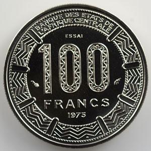 KM E5   100 Francs   1975 Essai    FDC