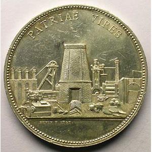 L'Horme   1847   jeton rond en argent    TTB+