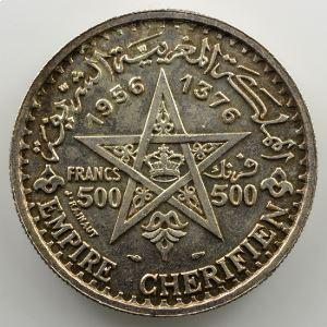 Lec.293   500 Francs   1956 - AH 1376    SUP/FDC