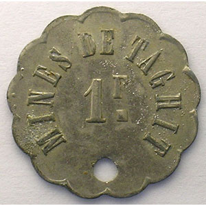 Lec.382   1 F. ZnNi, R troué  24 mm    TTB+