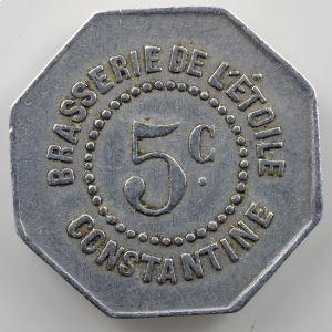 Lec. manque - Elie manque   5 Centimes   aluminium    TTB