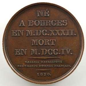 Louis Bourdaloue  (Bourges 1632 - 1704)   Médaille en bronze   41mm   1820    SUP