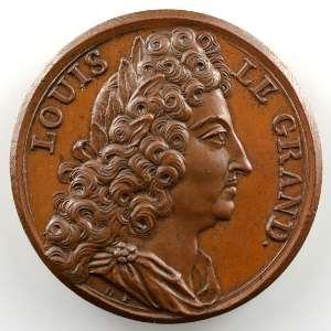 Louis XIV (1638-1715)   bronze   28mm    SUP/FDC