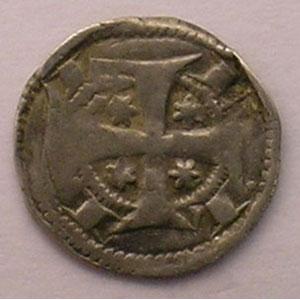 Maille ou petit denier du XIII° siècle    TB+ flan fendu