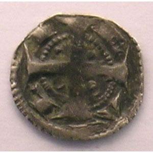 Maille ou petit denier du XIII° siècle    TB+/TTB
