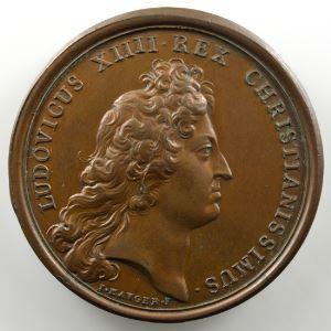 MAUGER/J.B. DUFOUR   Déroute du Comte de Marsin et du Prince de Ligne près de Bruges   bronze   41mm    SUP/FDC