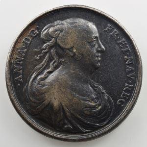 Médaille en argent  36mm   Anne d'Autriche (1601-1666)   1660    TB/TB+