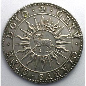 Médaille en argent   39mm   frappe postérieure avant 1832    SUP/FDC