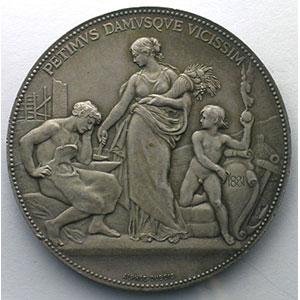 Médaille en argent   41mm   1881    TTB+