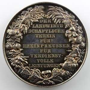Médaille en argent  43mm   Union Agricole    SUP/FDC