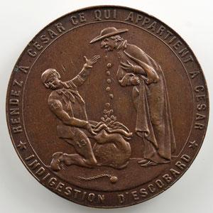 Médaille en bronze  32mm   Affaire De Buck (env.1860)    SUP