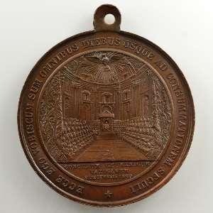 Médaille en bronze avec bélière   41mm   Ouverture du Concile oecuménique de Vatican I le 8 décembre 1869    SUP