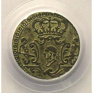 Numismatic foto  Münzen Feudalmünzen Corse Pascal PAOLI   (1762-1768) G.6   2 Soldi   1764    PCGS-AU53    TTB+