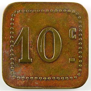 Numismatic foto  Münzen Französische Kolonialmünzen Algerien Alger, Sté Coop. ALTAIRAC Lec.186b   10 c   Lt, carré coins arrondis   23,5mm    TB+