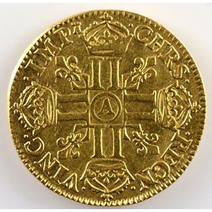 Numismatic foto  Münzen Französische königlische Münzen Ludwig XIV   (1643-1715) G.246   Louis d'or au buste juvénile, tête laurée 1666 A  (Paris)    TTB