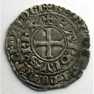 Numismatic foto  Münzen Französische königlische Münzen Charles IV   (1322-1328) Duplessy 243   Maille blanche 2° émission juillet 1324    TB+