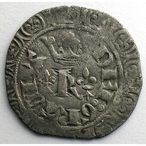 Numismatic foto  Münzen Französische königlische Münzen Charles V   (1364-1380) Duplessy 363   Blanc au K 20 avril 1365    TB+/TTB