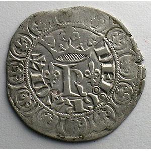 Numismatic foto  Münzen Französische königlische Münzen Charles V   (1364-1380) Duplessy 363   Blanc au K 20 avril 1365    TTB/TTB+