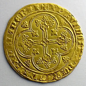 Numismatic foto  Münzen Französische königlische Münzen Philippe VI   (1328-1350) Duplessy 249   Ecu d'or à la chaise 3° émission   5 janvier 1348    TTB+