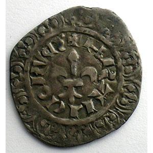 Numismatic foto  Münzen Französische königlische Münzen Philippe VI   (1328-1350) Duplessy 263   Gros à la fleur de lis Dupl.263 A   2° émission 17 février 1341    TB+/TTB