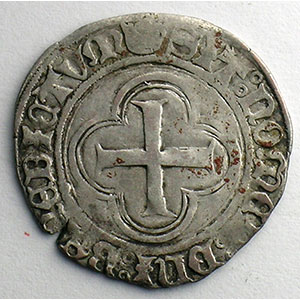 Numismatic foto  Münzen Französische königlische Münzen Charles VIII   (1483-1498) Duplessy 584   Blanc au Soleil Point 15°    Rouen    TB+