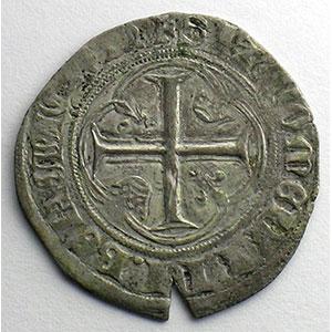 Numismatic foto  Münzen Französische königlische Münzen Charles VII   (1422-1461) Duplessy 519   Blanc à la couronne point 18°   Paris    TB+