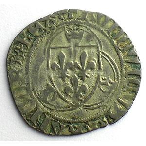 Numismatic foto  Münzen Französische königlische Münzen Louis XI   (1461-1483) Duplessy 550   Blanc à la couronne Point 19°   Saint Lô    TB+/TTB