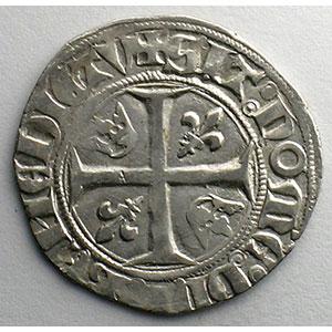 Numismatic foto  Münzen Französische königlische Münzen Charles VI   (1380-1422) Dupl. 377A   Blanc Guénar, 2° émission Point 2°  ROMANS    TTB