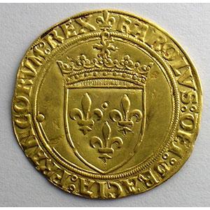 Numismatic foto  Münzen Französische königlische Münzen Charles VIII   (1483-1498) Duplessy 575   Ecu d'or au soleil Point 21°   Chalon-en-Champagne    TTB+