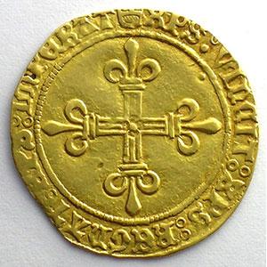 Numismatic foto  Münzen Französische königlische Münzen Charles VIII   (1483-1498) Duplessy 575   Ecu d'or au soleil Point 4°  Montpellier    TTB
