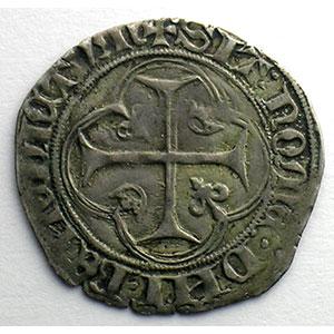Numismatic foto  Münzen Französische königlische Münzen Charles VII   (1422-1461) Duplessy 519   Blanc à la couronne point 4°   Montpellier    TTB