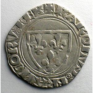 Numismatic foto  Münzen Französische königlische Münzen Charles VI   (1380-1422) Dupl. 377A   Blanc Guénar, 2° émission Point plein sous la première lettre  CREMIEU    TB+/TTB
