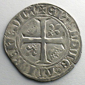 Numismatic foto  Münzen Französische königlische Münzen Charles VI   (1380-1422) Dupl. 377A   Blanc Guénar, 2° émission sans point d'atelier    TB+/TTB