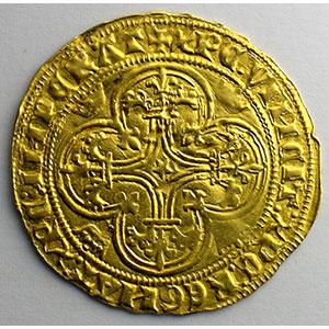 Numismatic foto  Münzen Französische königlische Münzen Charles VI   (1380-1422) Duplessy 369   Ecu d'or à la couronne sans point d'atelier    TTB+